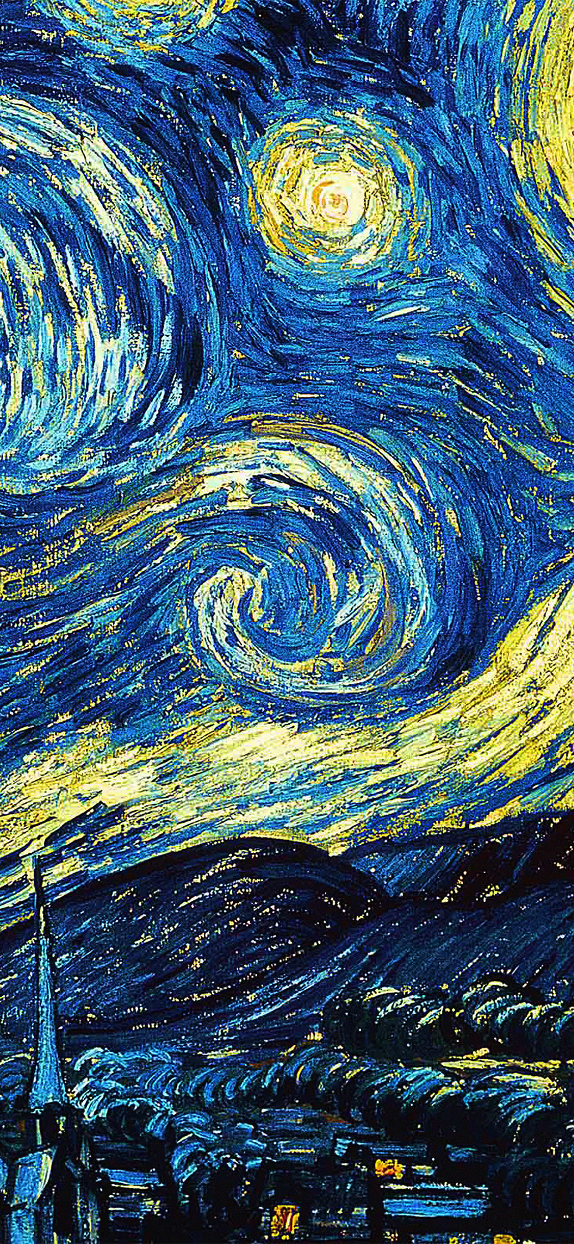 Iphone Aesthetic Wallpaper Ar55 Vicent Van Gogh Starry Night Art Classic Wallpaper