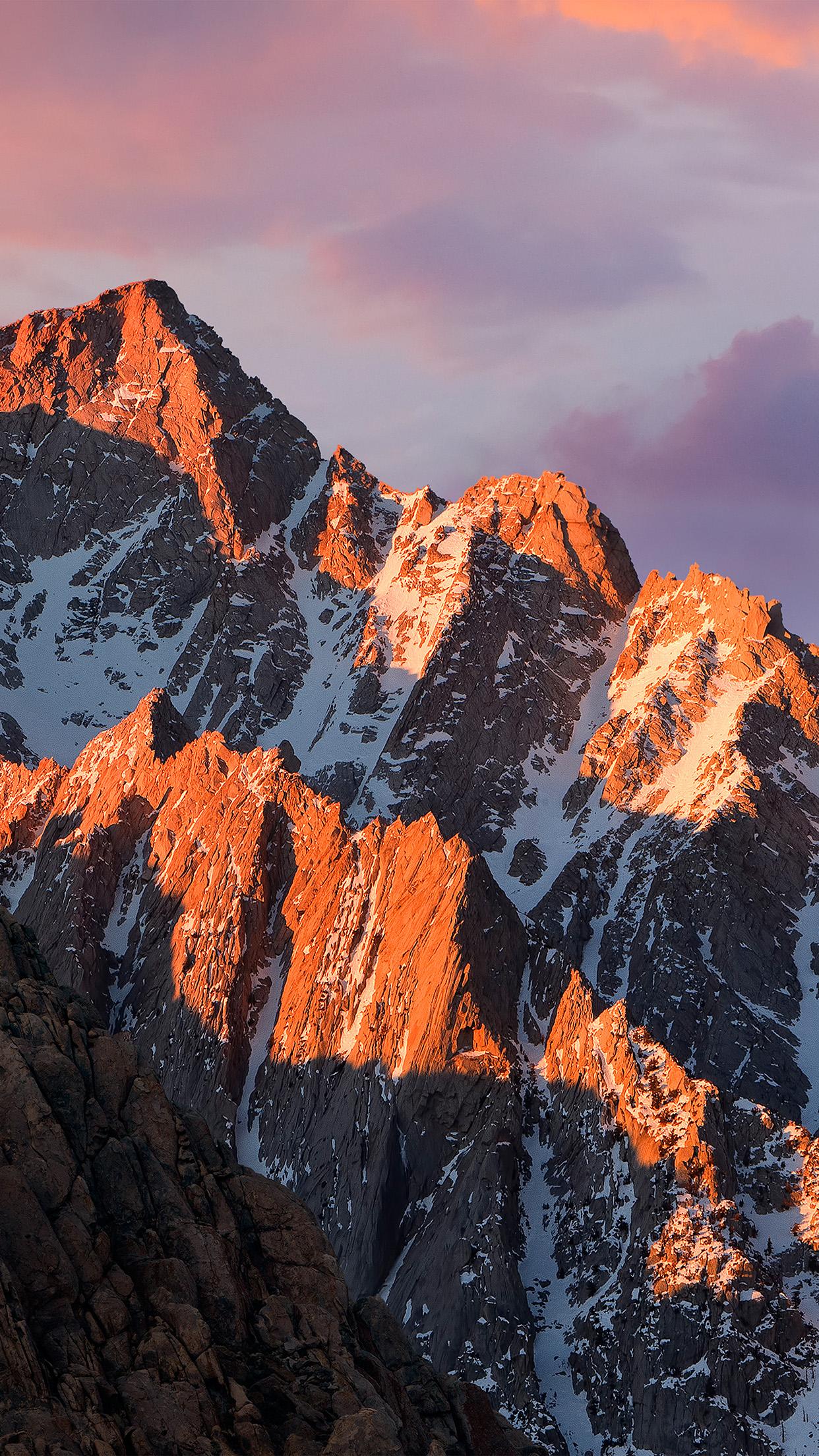 Mac Os X Yosemite Wallpaper Iphone 6 Ar65 Apple Macos Sierra Mountain Wwdc Official Wallpaper
