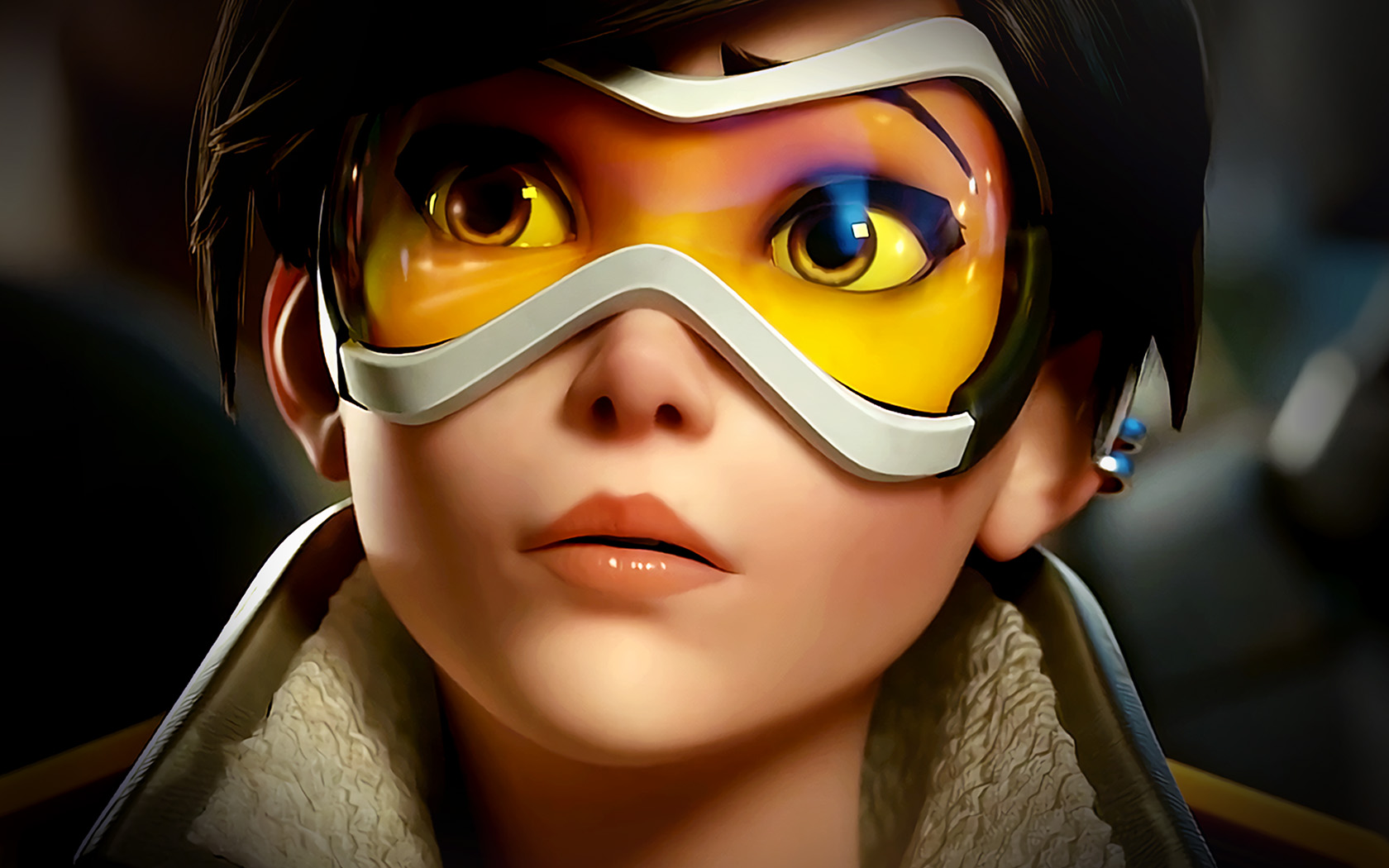 Cute Anime Avatar Girl Wallpaper Ar95 Overwatch Tracer England Game Art Illustration Wallpaper