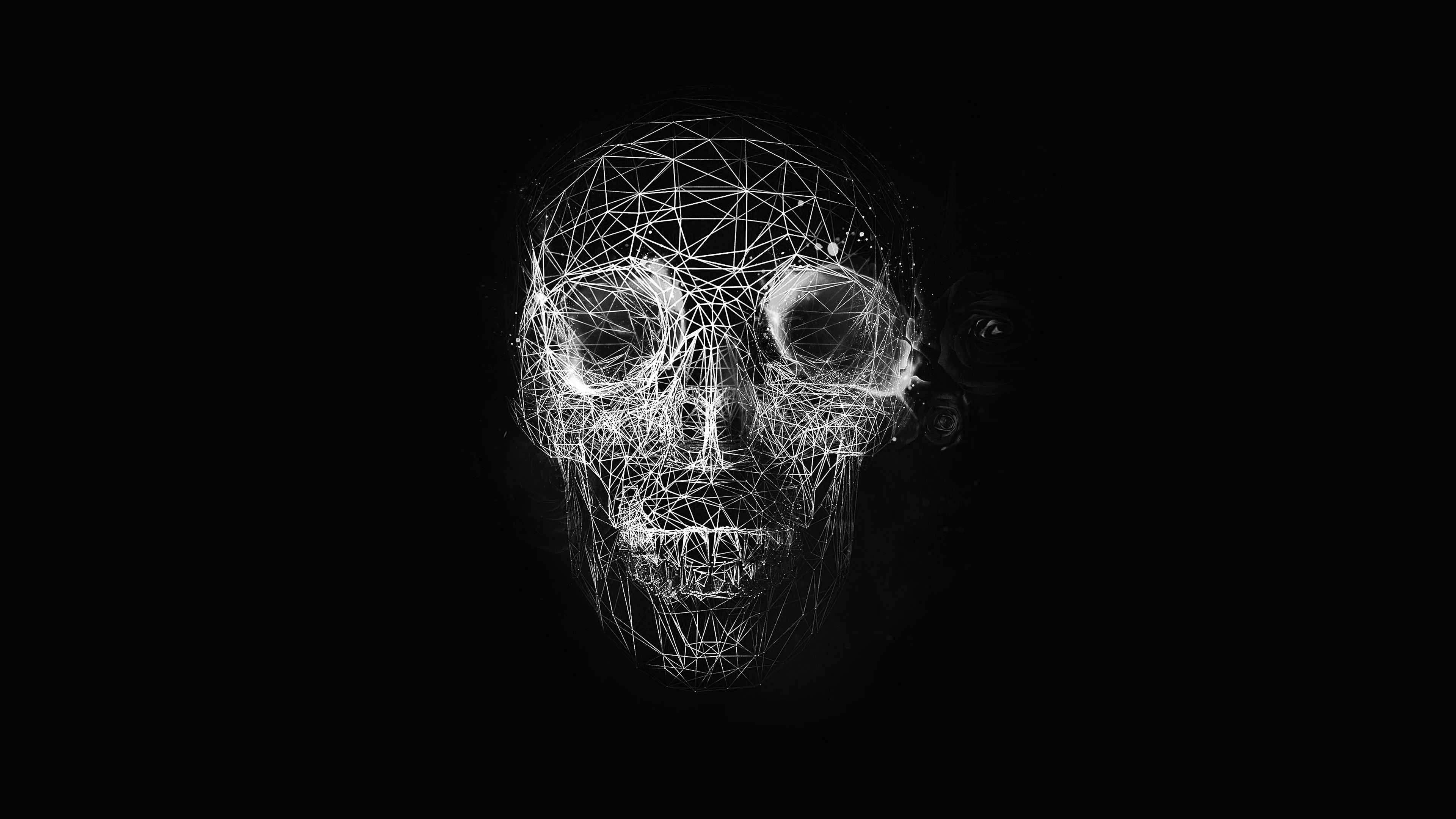 Iphone Optical Illusion Wallpaper I Love Papers At04 Digital Skull Dark Abstract Art