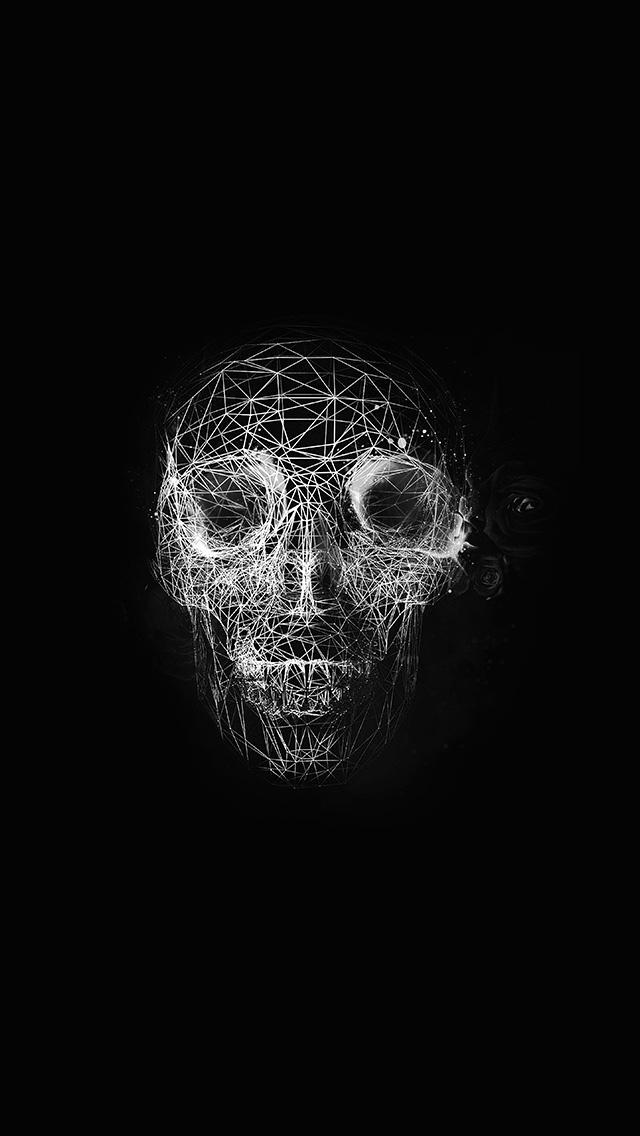 Crazy Cute Wallpapers At04 Digital Skull Dark Abstract Art Illustration Bw Wallpaper