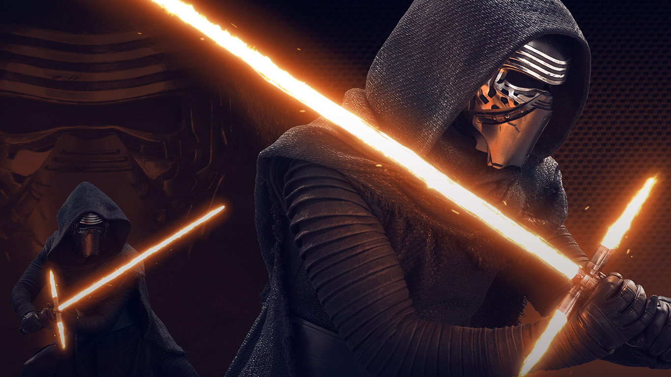 Cute Fall Hd Wallpaper At11 Starwars Kylo Ren Dark Orange Lightsaber Art