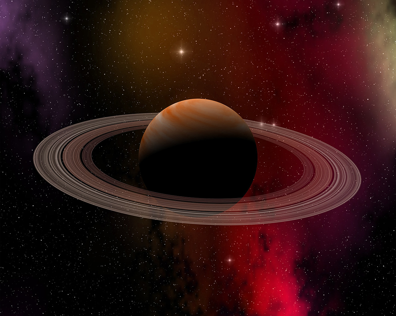 Spring Desktop Wallpaper Hd At79 Space Planet Saturn Star Art Illustration Red Wallpaper
