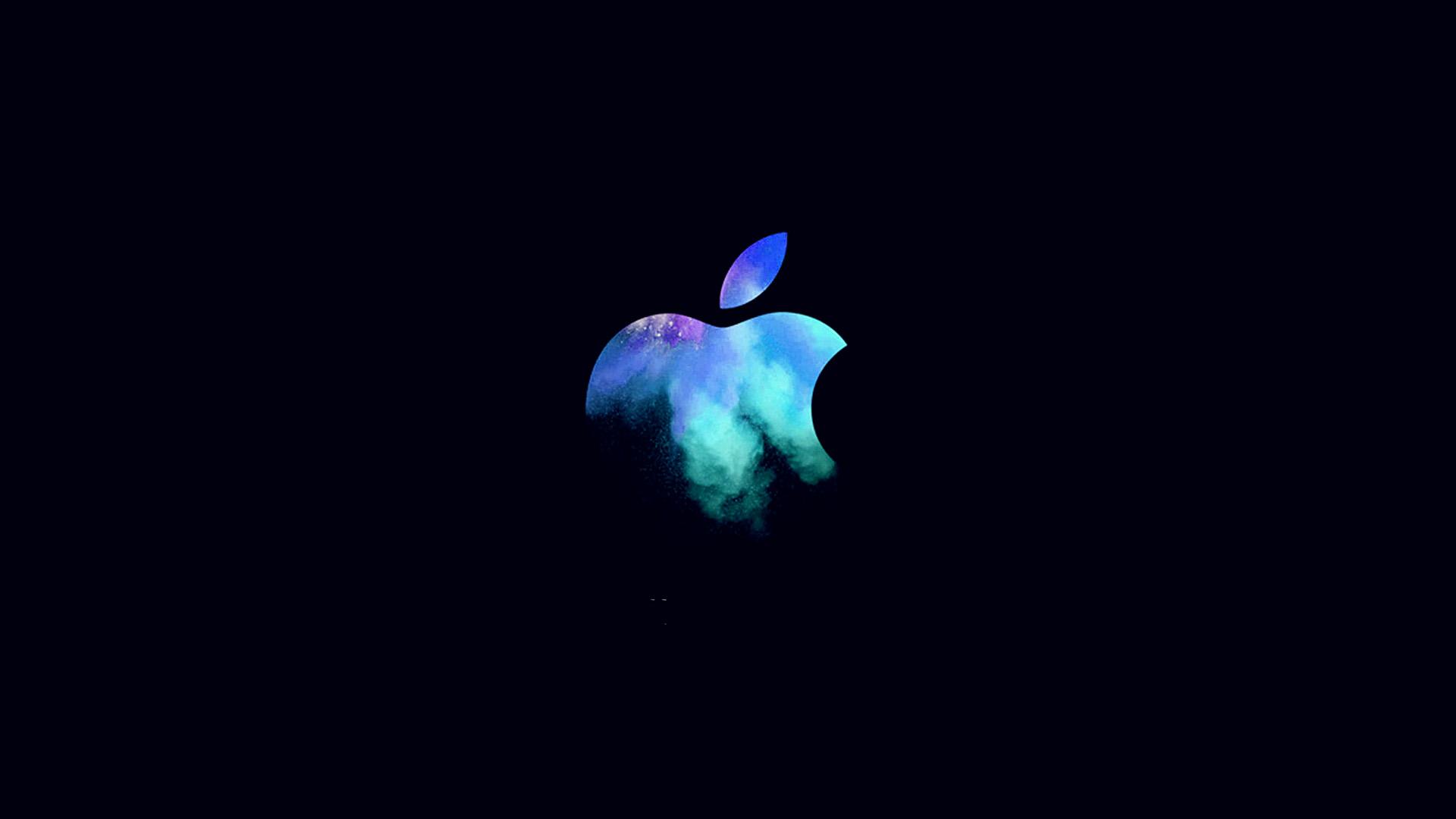 Fall Hd Wallpaper For Mac Au33 Apple Mac Event Logo Dark Illustration Art Blue Wallpaper