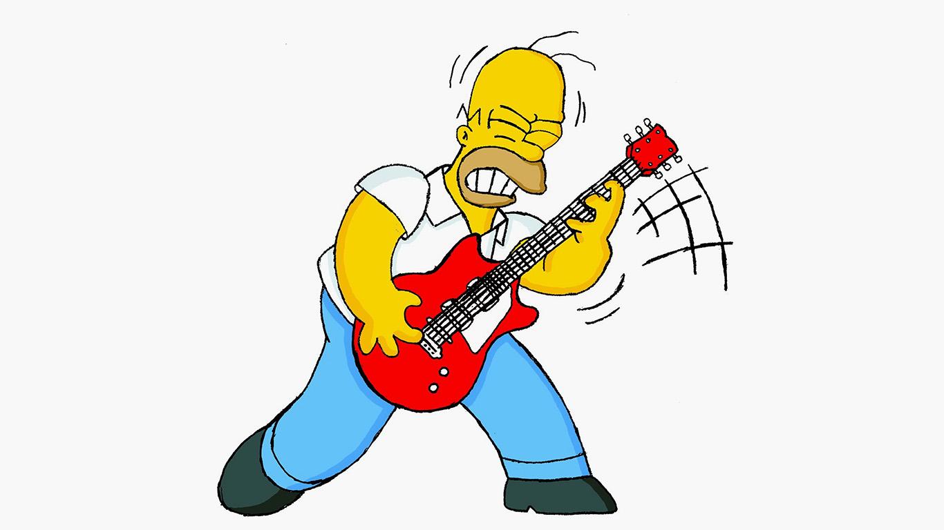 Cute Cartoon Fall Wallpaper Au45 Homer Simpson Guitar Cartoon Illustration Art Wallpaper