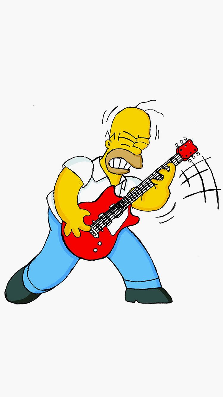Avengers Animated Wallpaper Au45 Homer Simpson Guitar Cartoon Illustration Art Wallpaper