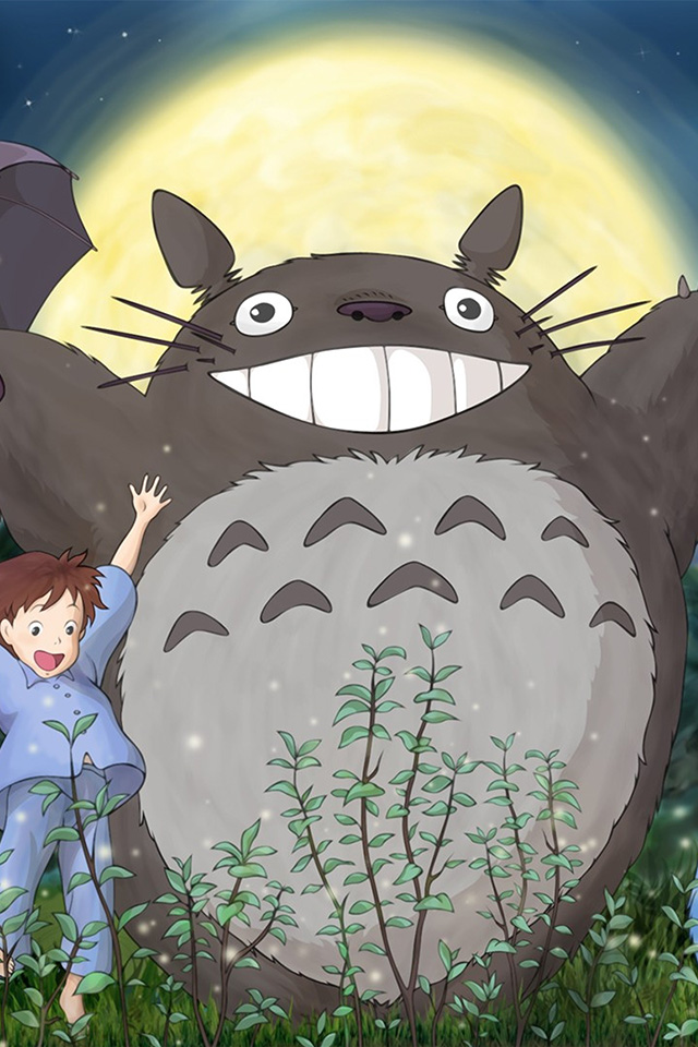 Butterfly Images Hd Wallpaper Au59 Totoro Forest Anime Cute Illustration Art Wallpaper