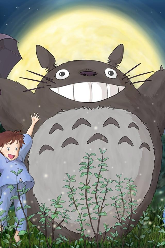 Simple Iphone X Wallpaper Au59 Totoro Forest Anime Cute Illustration Art Wallpaper