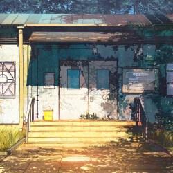 anime wood camp illustration ipad air wallpapers papers chebynkin arseniy av21