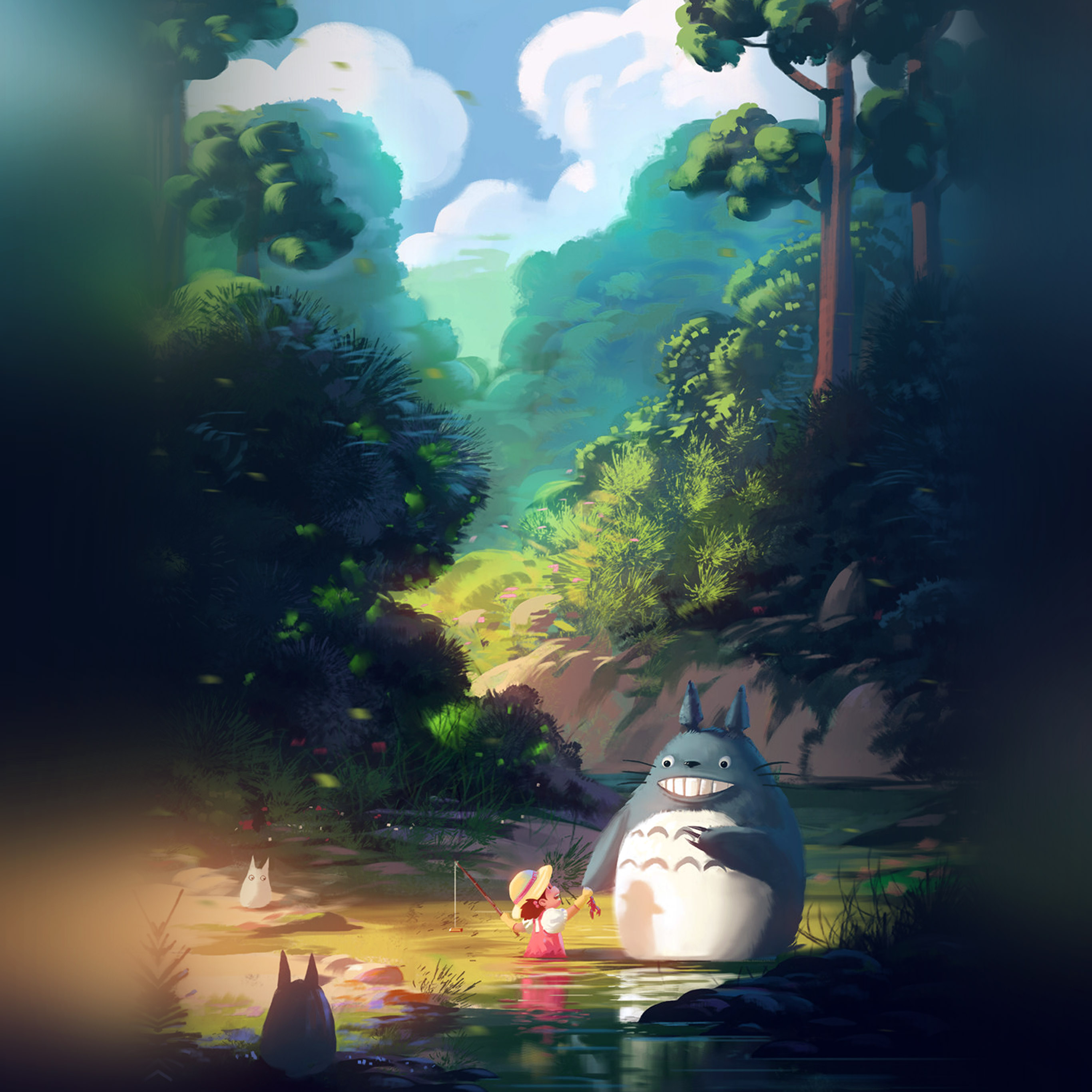 Galaxy S4 Fall Wallpaper Papers Co Android Wallpaper Av34 Totoro Anime Liang