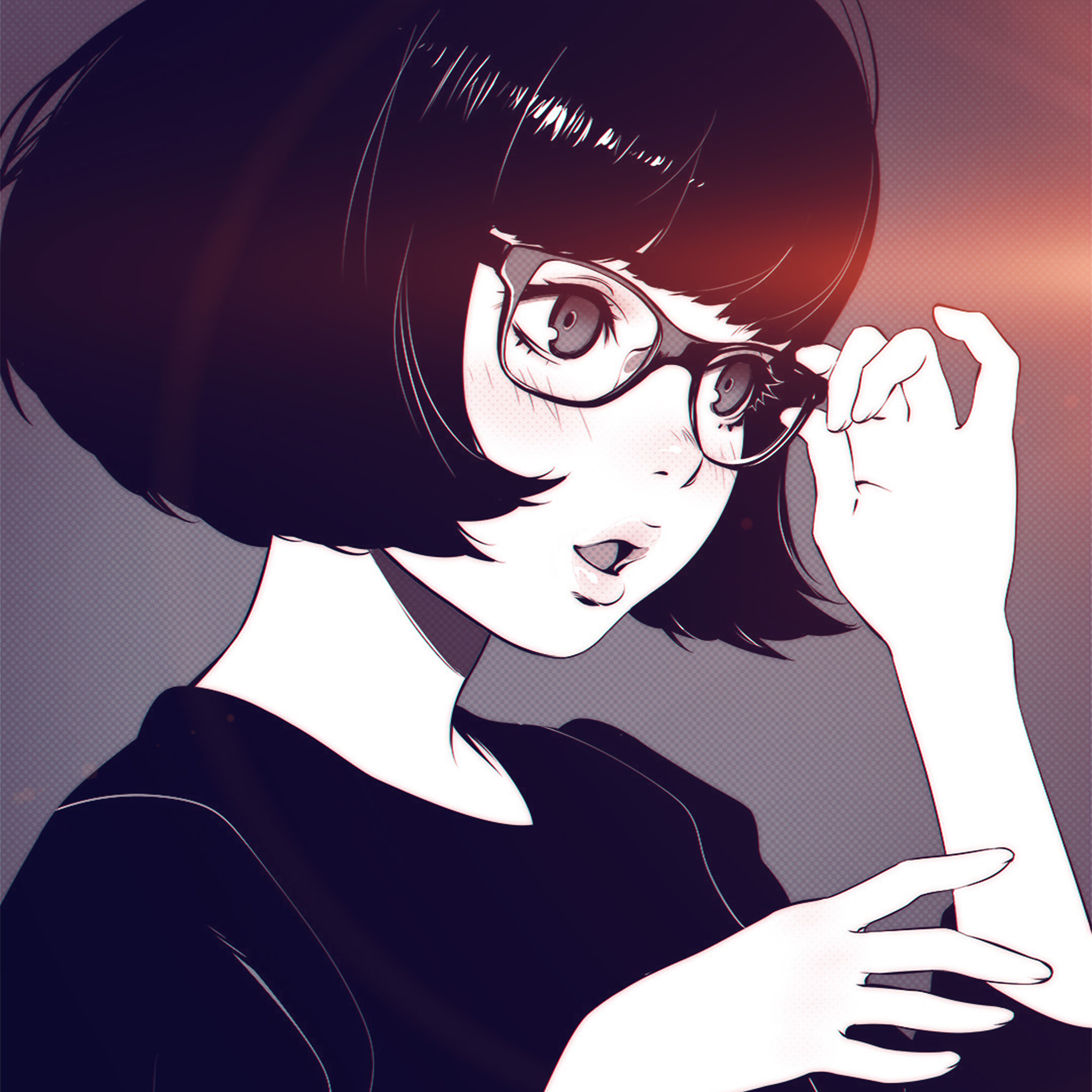Cute Emo Wallpapers For Iphone Aw23 Girl Bw Anime Ilya Kuvshinov Illustration Art Flare