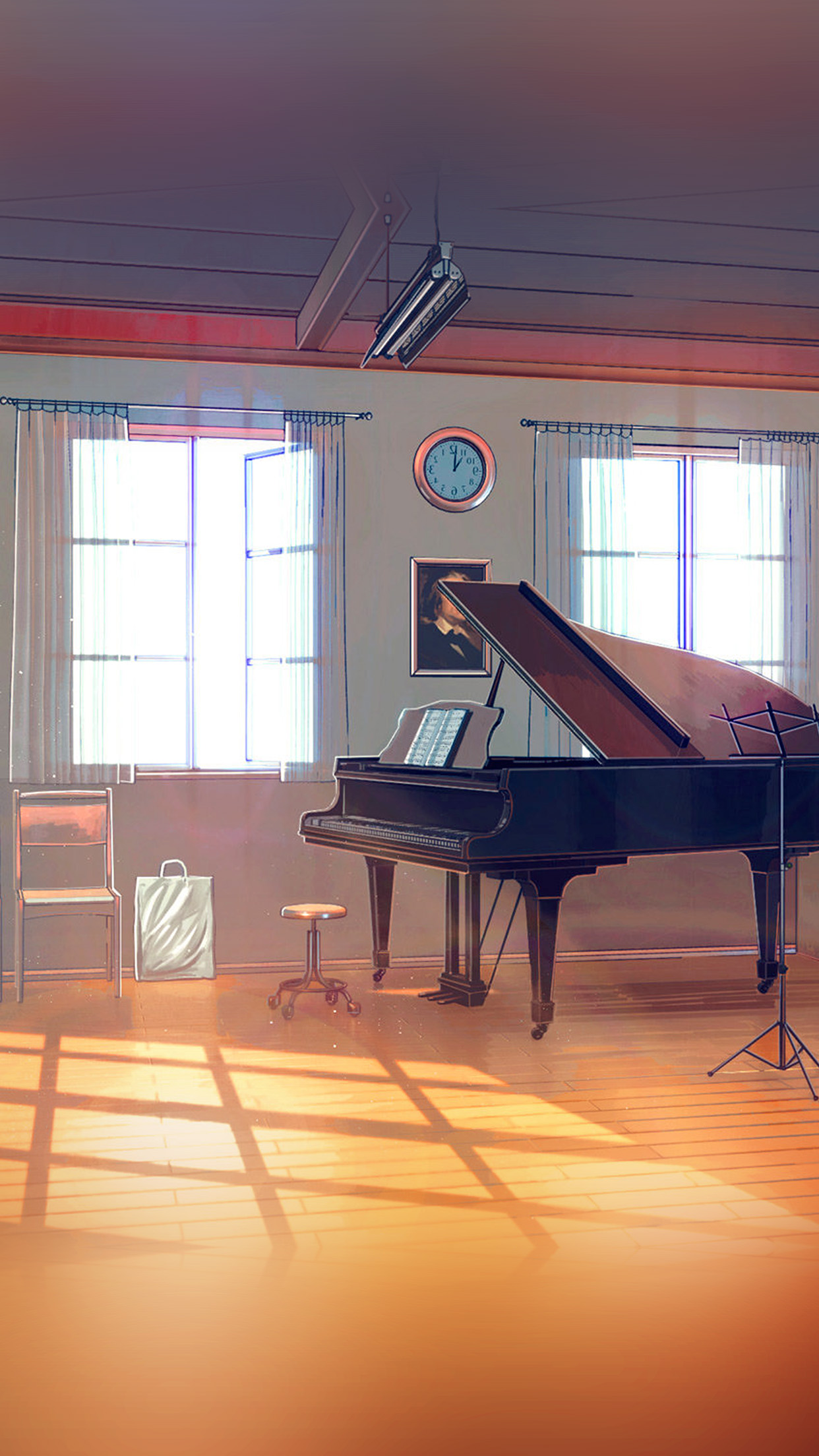 Disney Wallpaper For Iphone 4 Aw49 Arseniy Chebynkin Music Room Piano Illustration Art