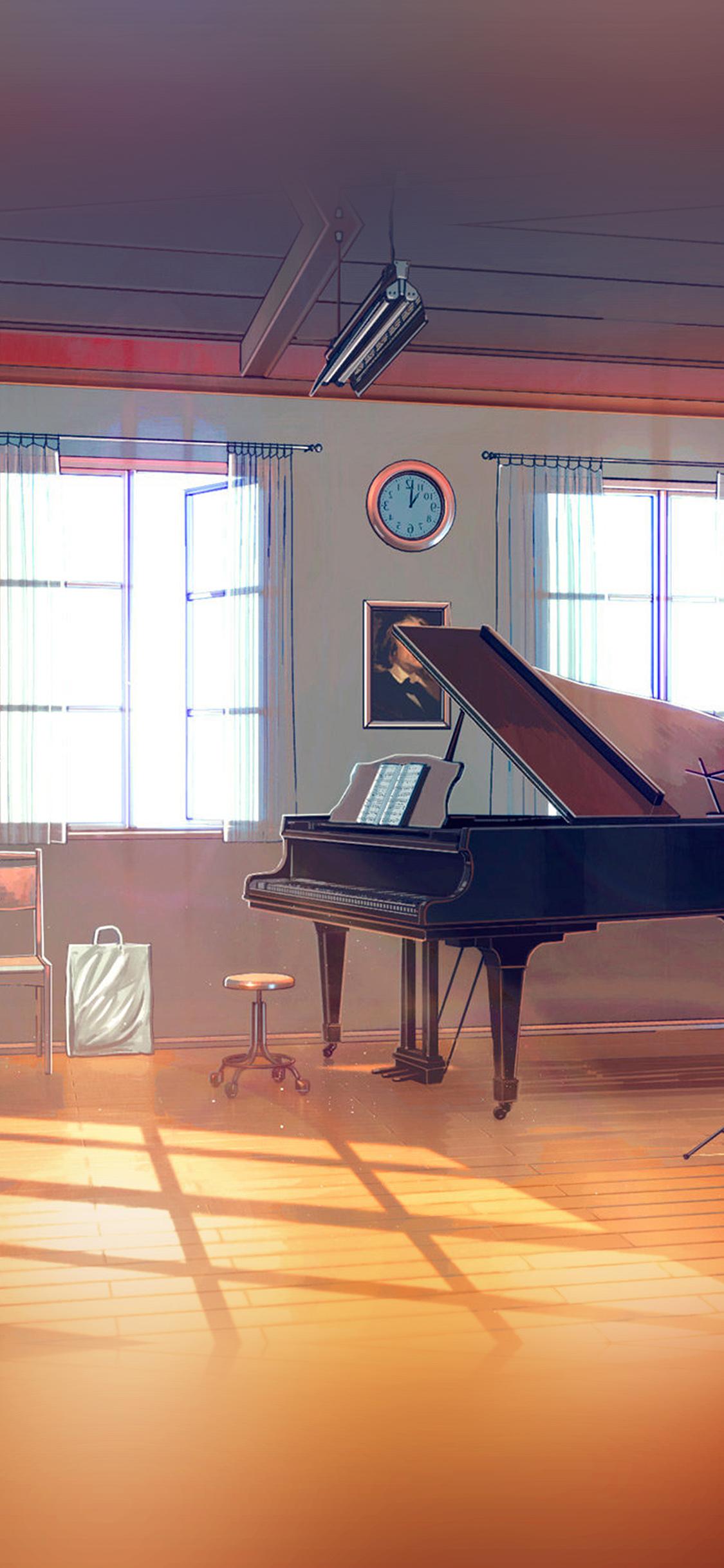 Video Game Iphone X Wallpaper Aw49 Arseniy Chebynkin Music Room Piano Illustration Art
