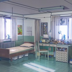 aw92 anime illustration art arseniy chebynkin office wallpaper