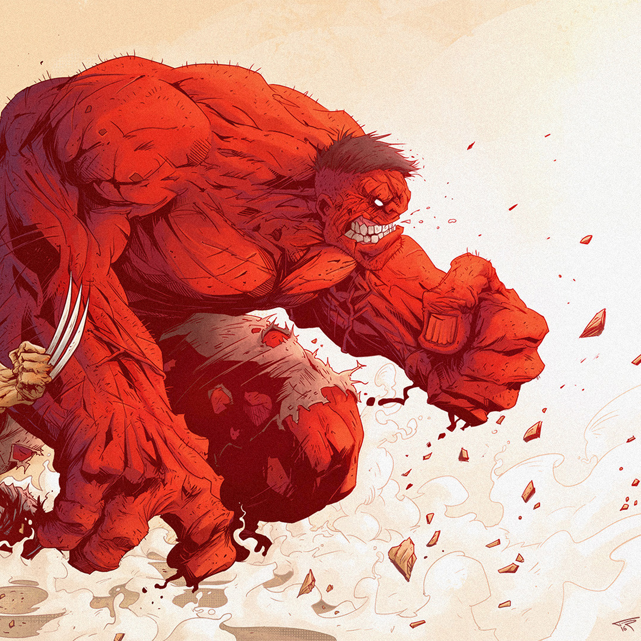 Hulk Wallpaper Iphone X Aw95 Hulk Anime Tonton Revolver Illustration Art Red Hero