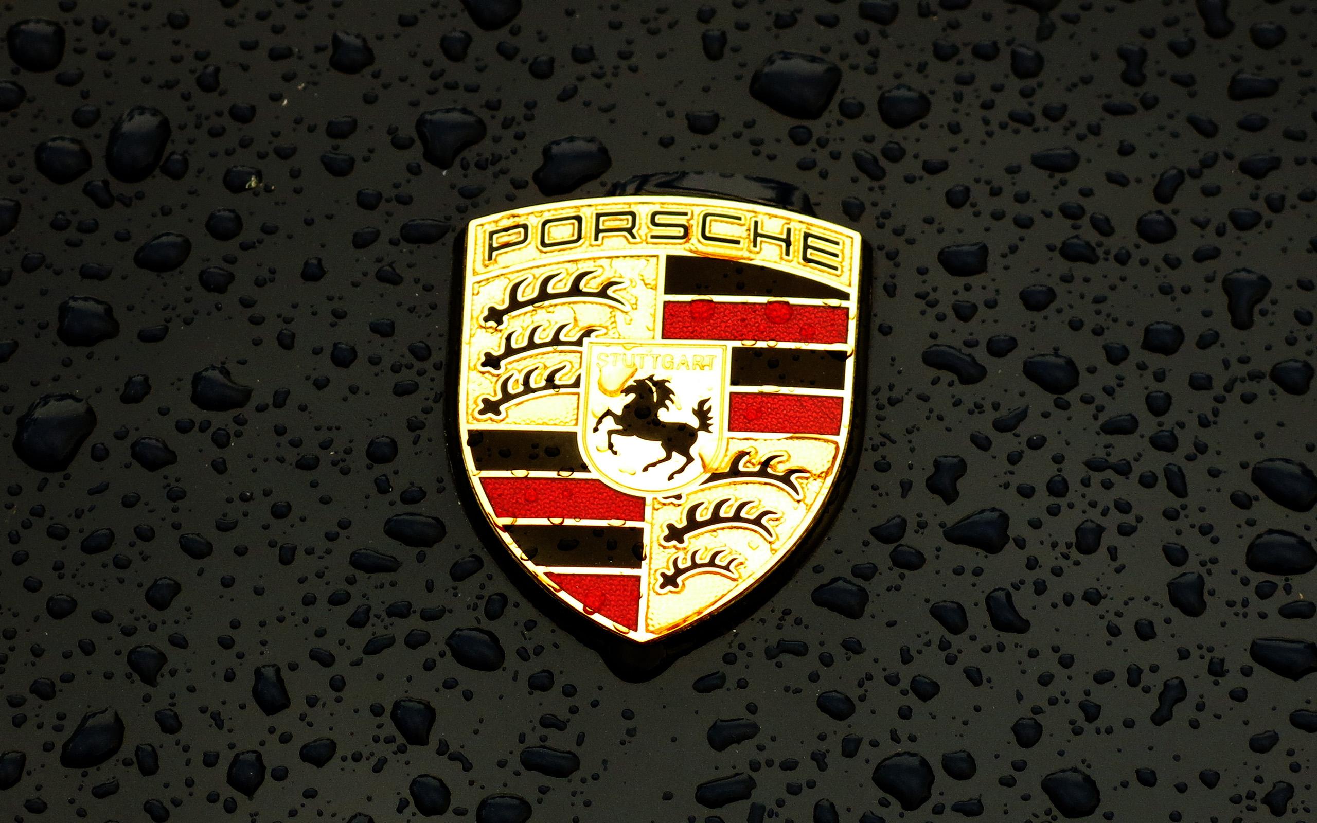Car Wallpaper Hd  Ax15 Porsche Logo Emblem Car Illustration Art Dark Wallpaper