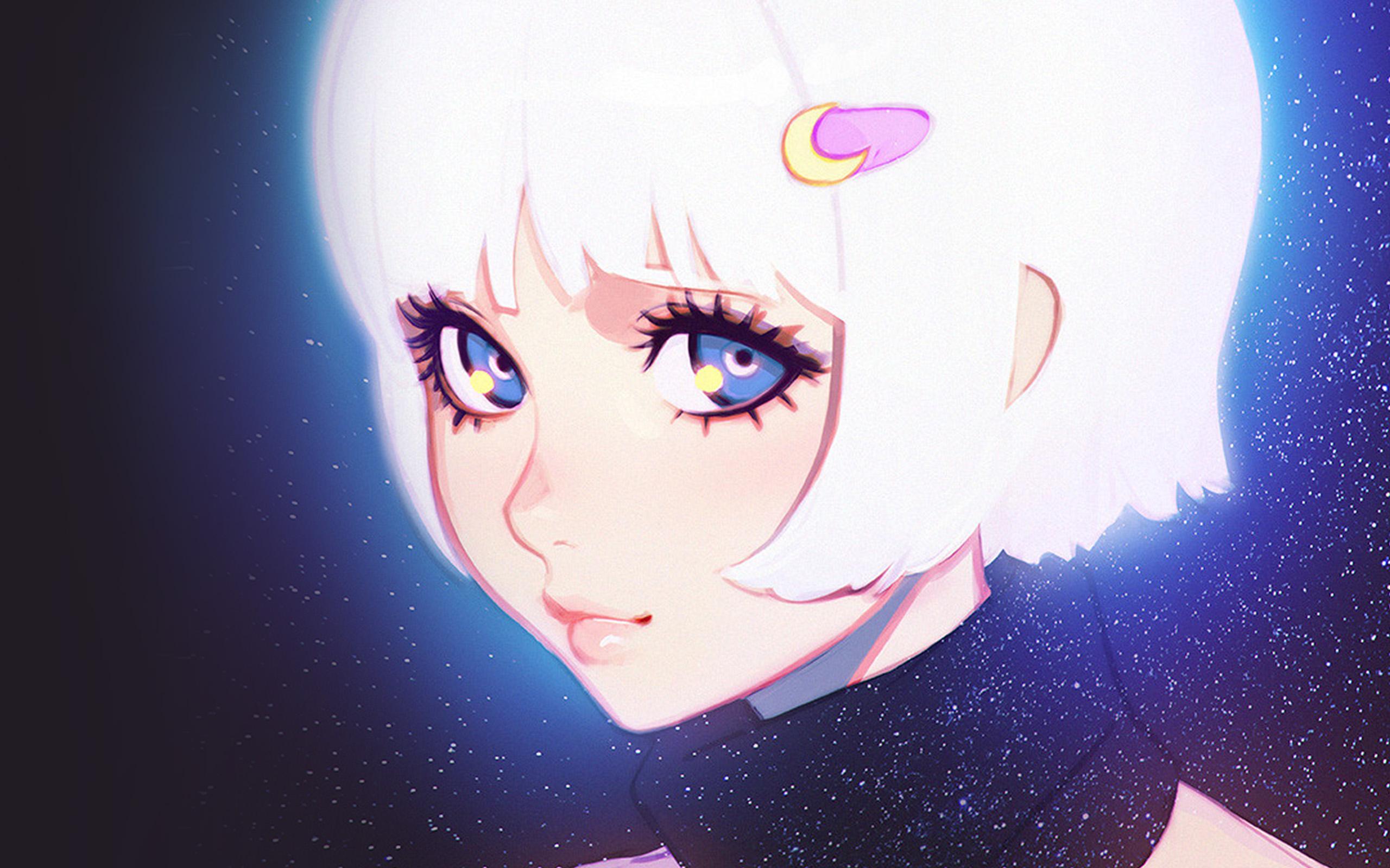 D Va Cute Wallpaper Ax54 Ilya Kuvshinov Illustration Art Girl Dark White Hair