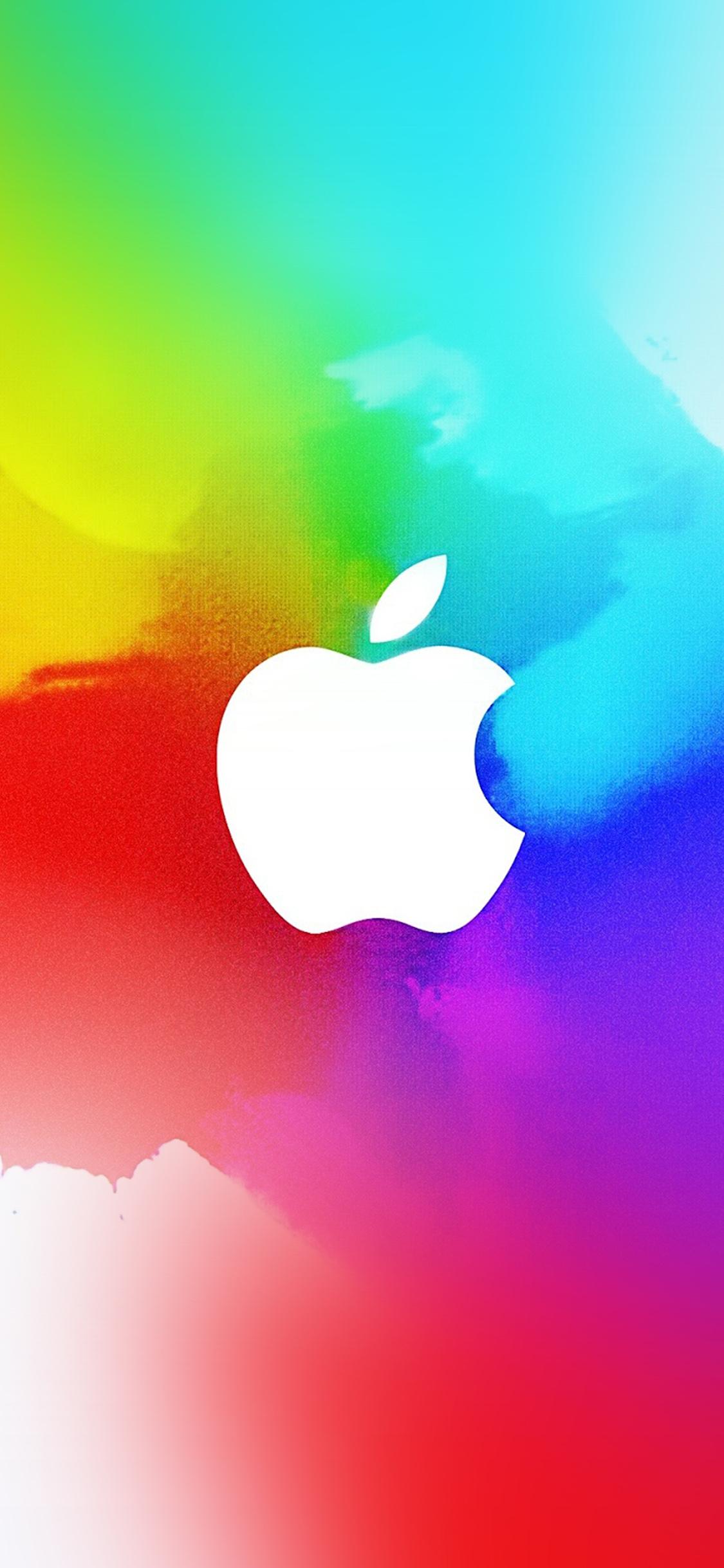 Disney Iphone Wallpaper Ay37 Apple Logo Splash Color Paint Illustration Art Wallpaper