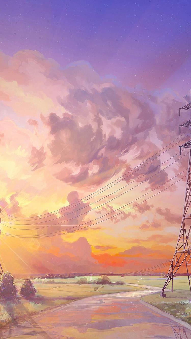 Disney Iphone X Wallpaper Az41 Arseniy Chebynkin Sunset Illustration Art Wallpaper
