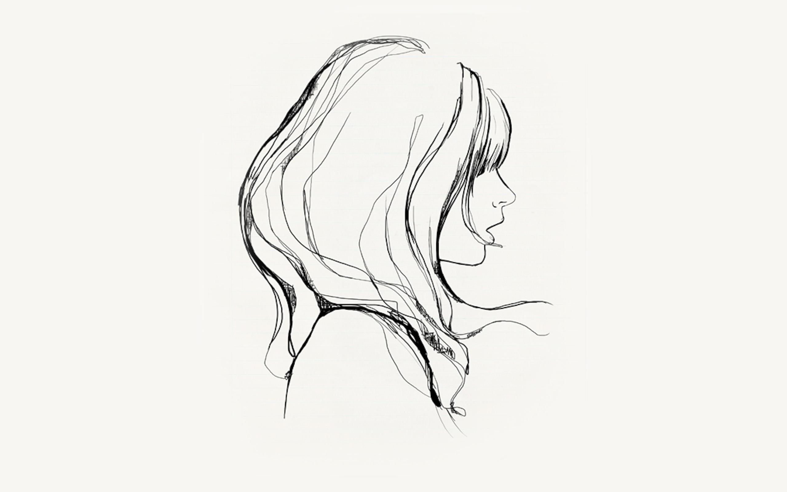 Az87 Drawing Simple Minimal Girl Illustration Art Wallpaper