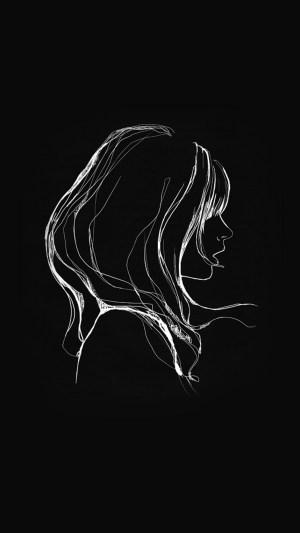 simple drawing dark minimal illustration iphone
