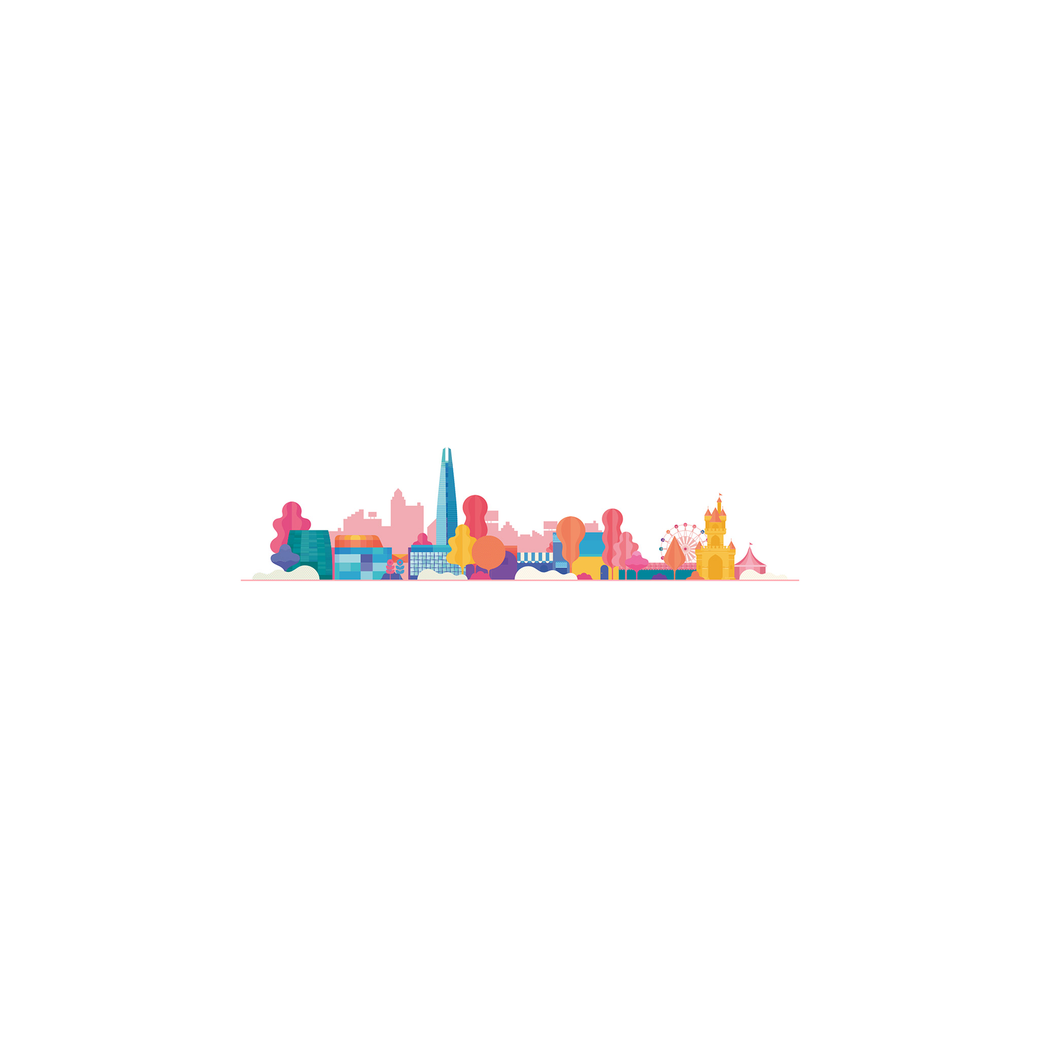 Pc Cartoon Fall Wallpapers Ba13 City Cute White Illustration Art Minimal Wallpaper