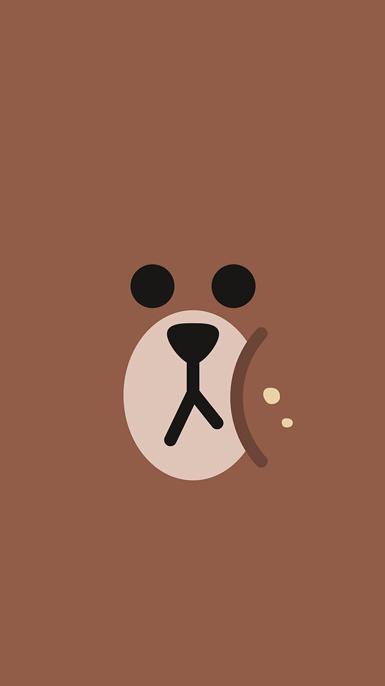 Cute Korean Wallpaper For Android Ba78 Line Chractor Cute Brown Illustration Art Wallpaper