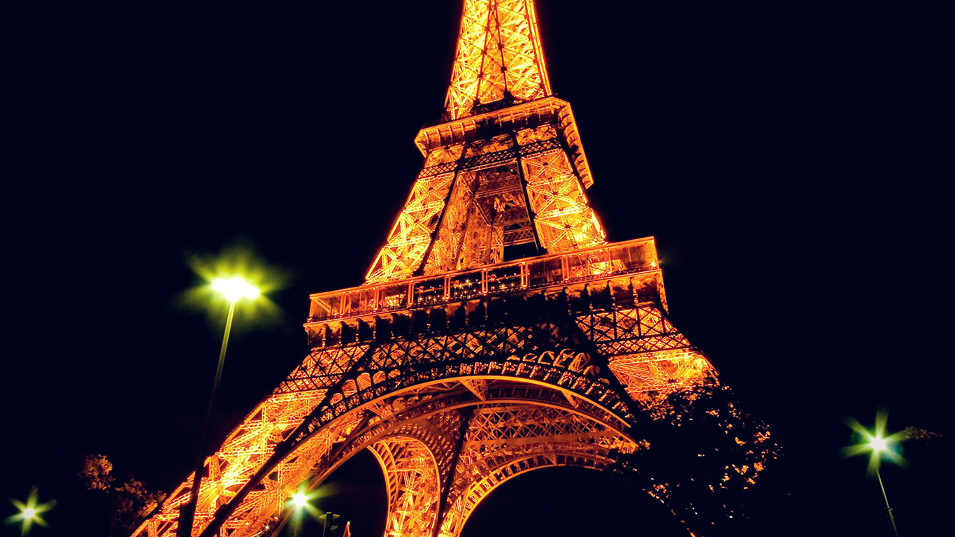 Cute Paris Wallpaper For Ipad Bc23 Eiffel Tower Paris Night Art Illustration Wallpaper
