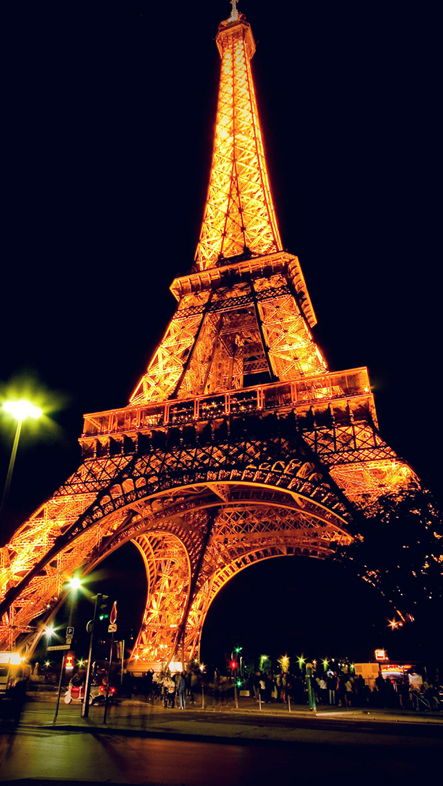 Paris Wallpaper Cute For Iphone Bc23 Eiffel Tower Paris Night Art Illustration Wallpaper