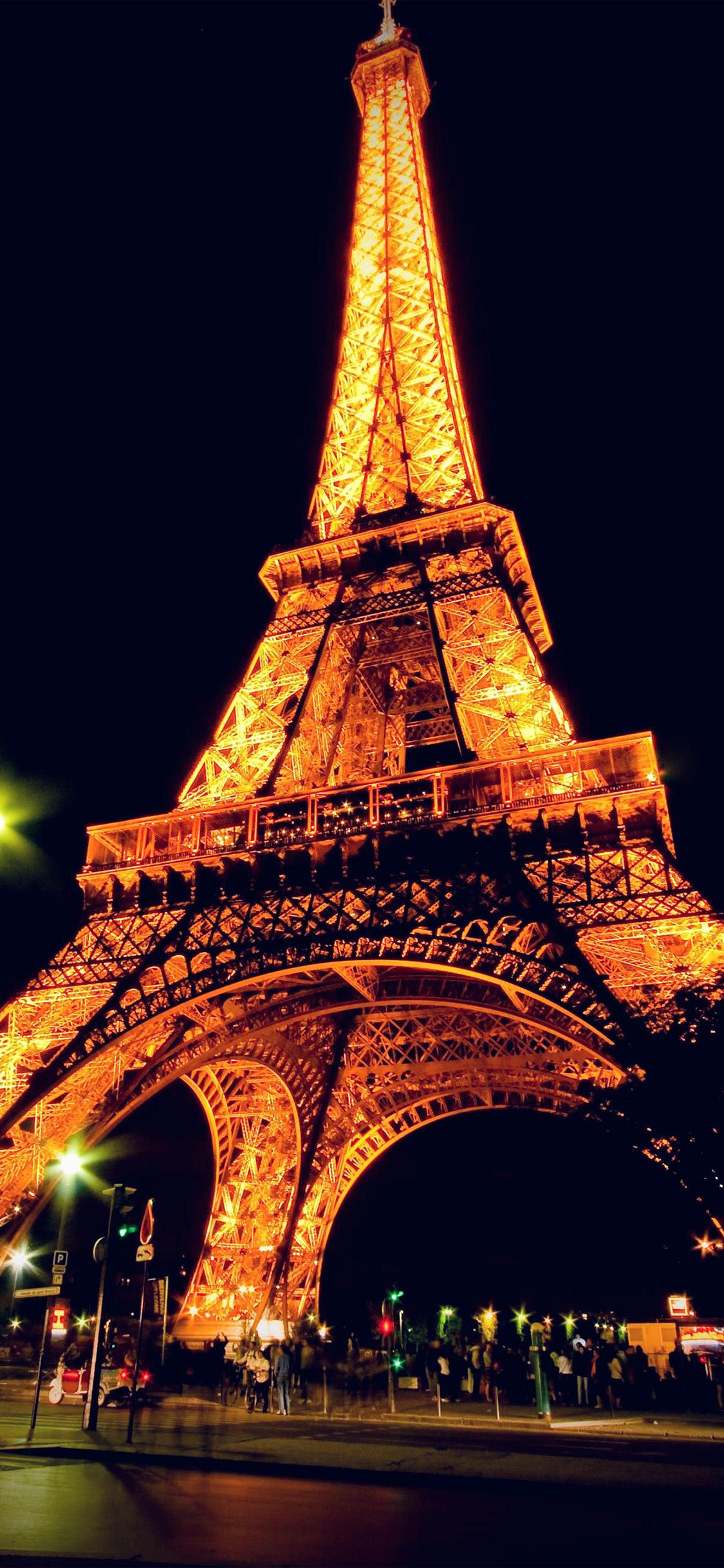 Htc Black Wallpaper Bc23 Eiffel Tower Paris Night Art Illustration Wallpaper