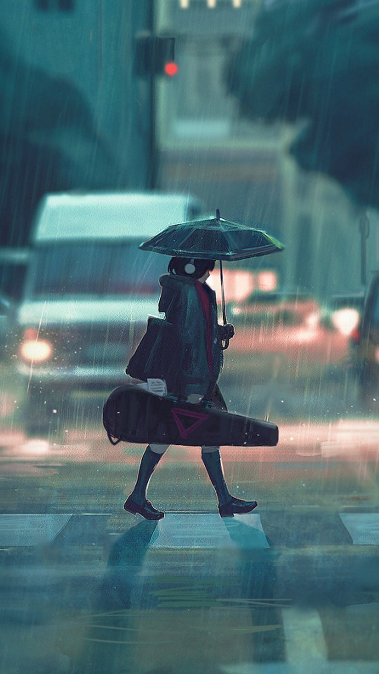 4k Fall Wallpaper For Phone Papers Co Iphone Wallpaper Bc89 Rainy Day Anime Paint