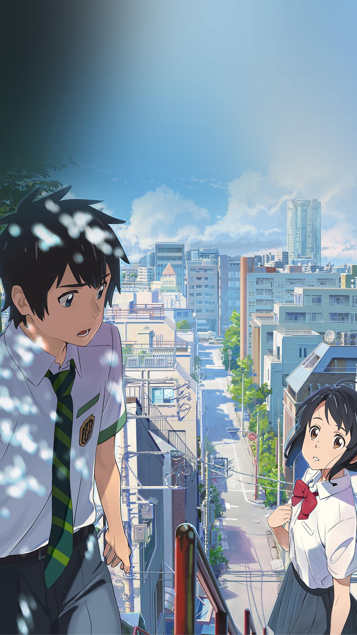 Simple Girl Wallpaper Com Bd04 Yourname Anime Summer Art Illustration Wallpaper