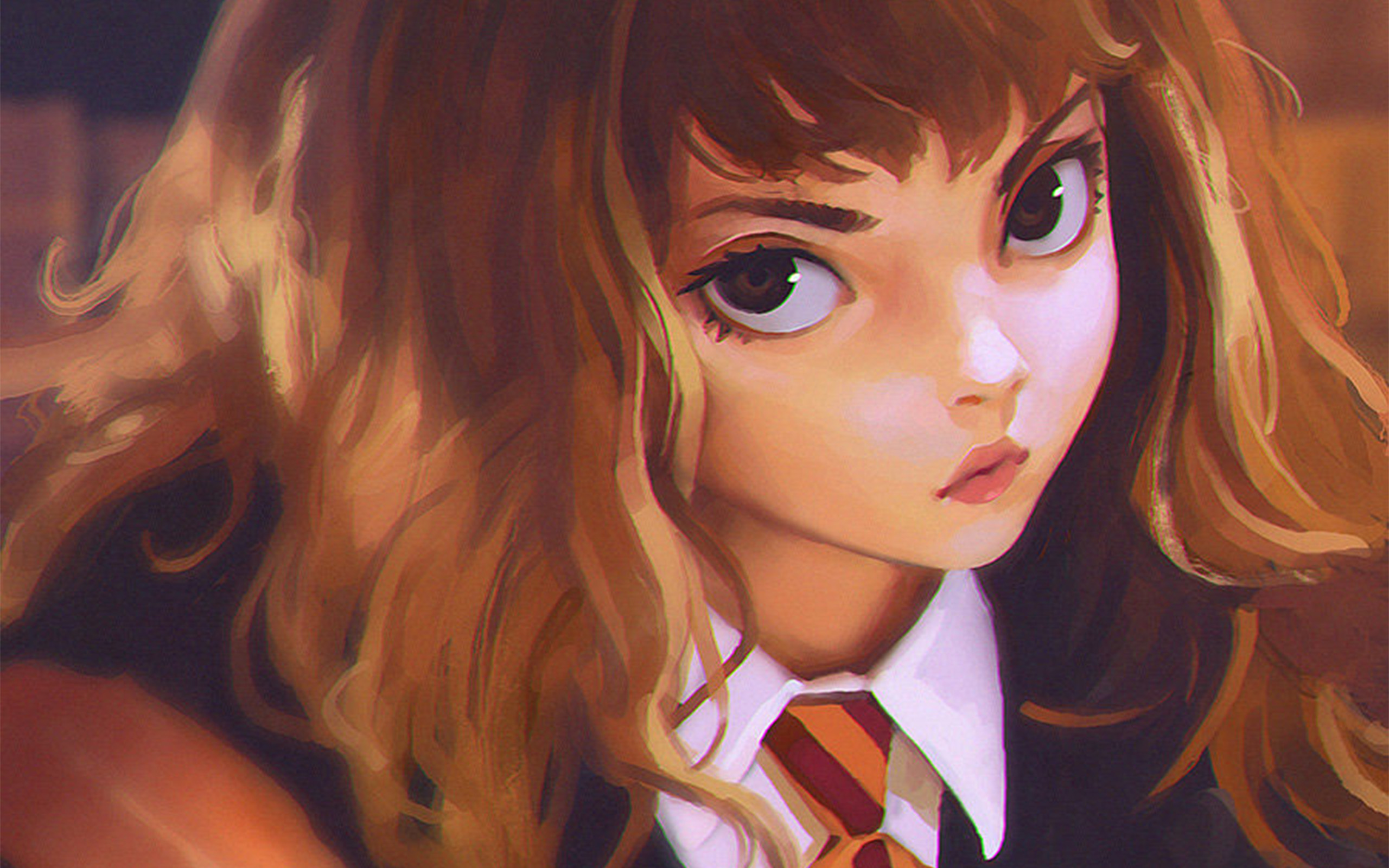 Simple Girl Wallpaper Pc Bd65 Hermione Harry Potter Liya Art Illustration Wallpaper