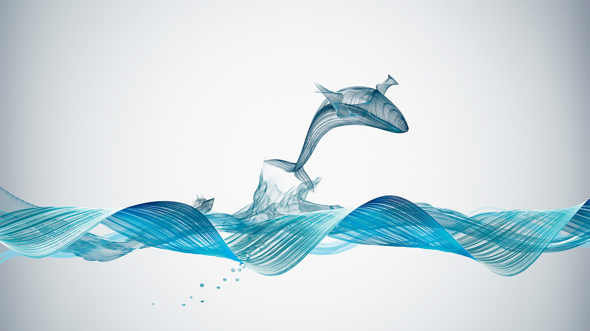 3d Graphic Wallpaper Hd Bd84 Fishing Boat Whale Wave Line Art Illustration Animal