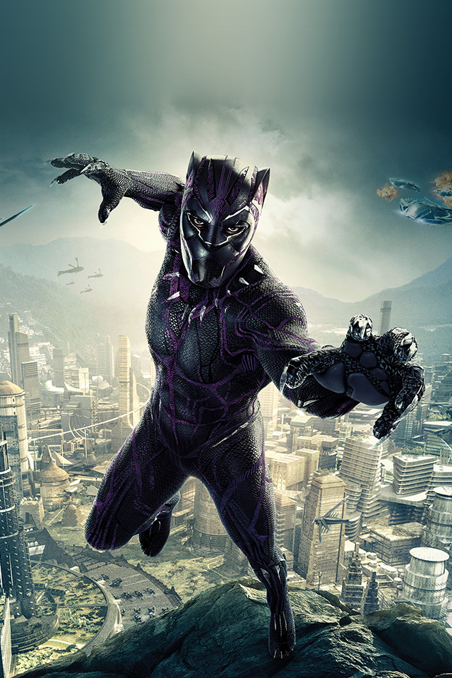 Ipad Air 2 Cute Wallpaper Be00 Marvel Film Hero Blackpanther Art Illustration Wallpaper