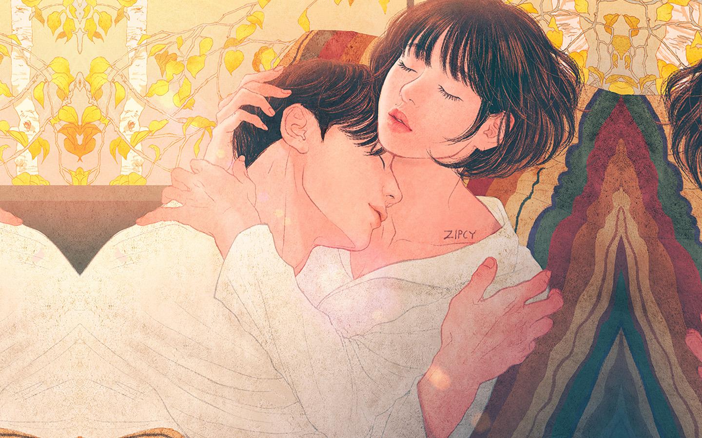 Cute Small Couple Wallpaper Hd Be01 Zipcy Love Couple Art Illustration Anime Wallpaper