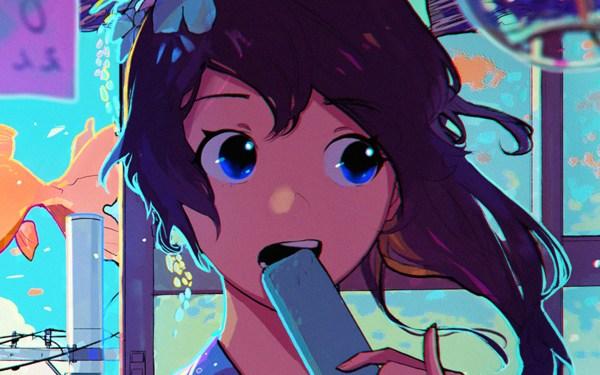 Be23-girl-face-anime-art-illustration-wallpaper