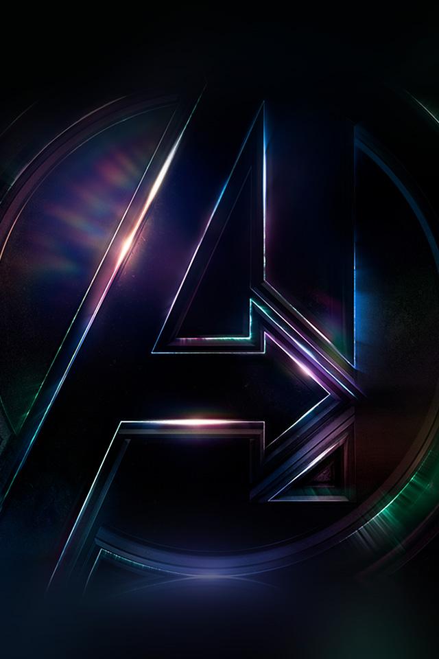 Drawing Wallpaper Iphone Be49 Avengers Logo Dark Film Art Illustration Marvel Wallpaper