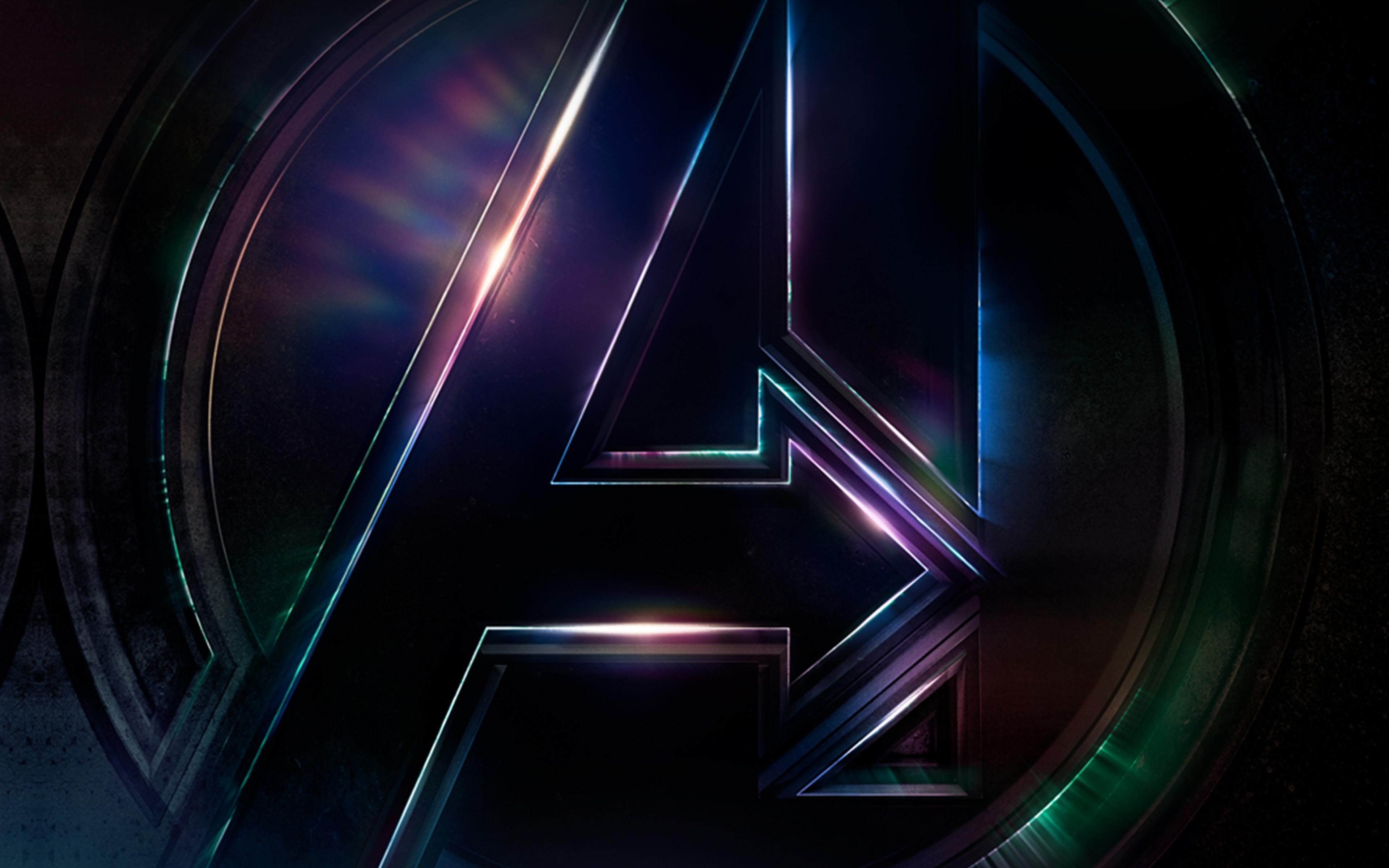 Desktop Wallpaper Hd Fall Be49 Avengers Logo Dark Film Art Illustration Marvel Wallpaper