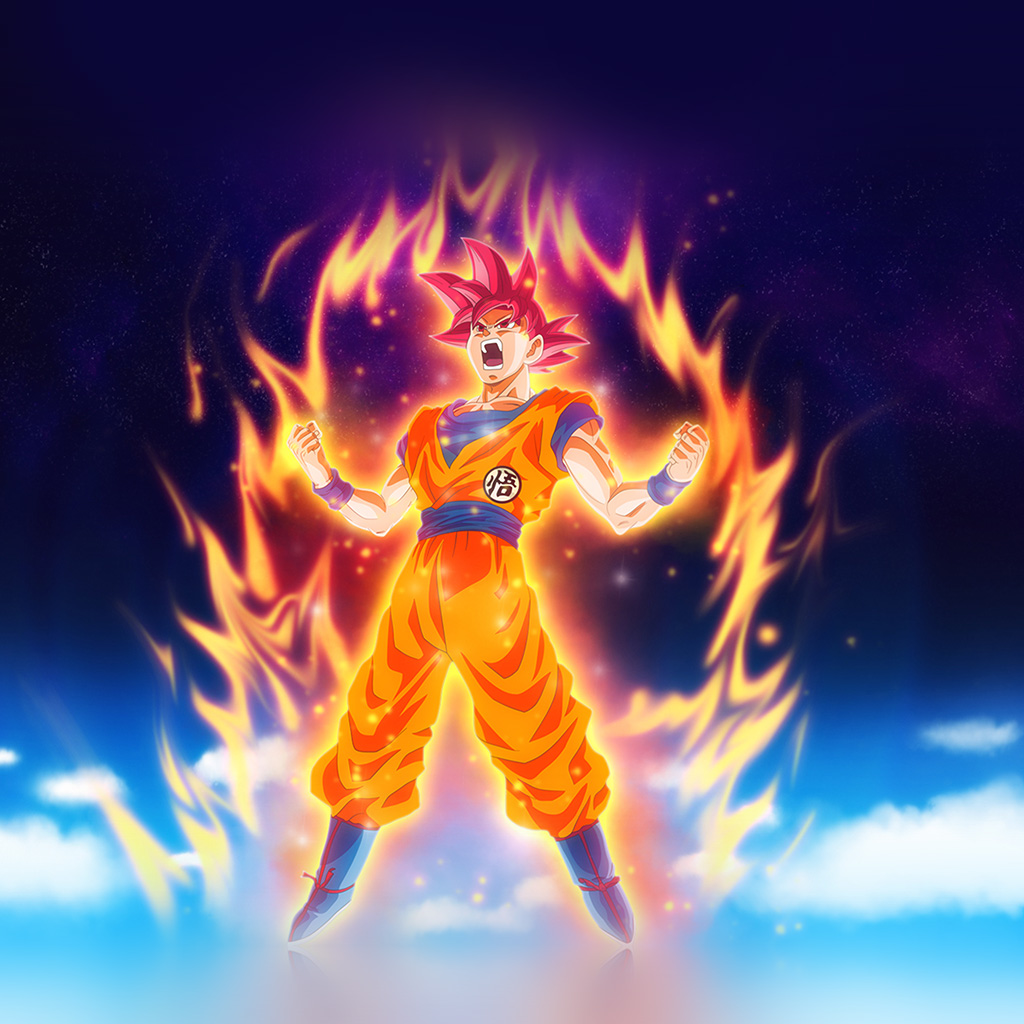 Iphone X Live Wallpaper Hd Be62 Dragon Ball Fire Art Illustration Hero Anime Wallpaper