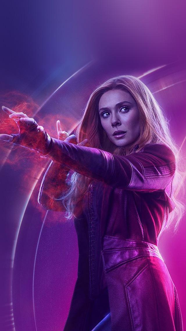 Lg Optimus Wallpaper Hd Be91 Scarlet Witch Avengers Film Hero Marvel Art Wallpaper