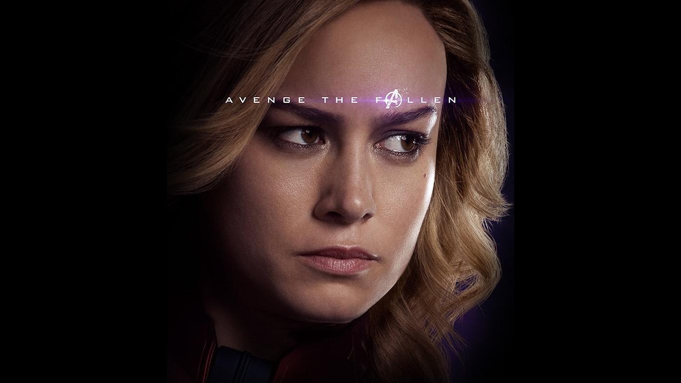 Dark Fall Android Wallpaper Bi50 Captain Marvel Endgame Avengers Hero Film Art Wallpaper