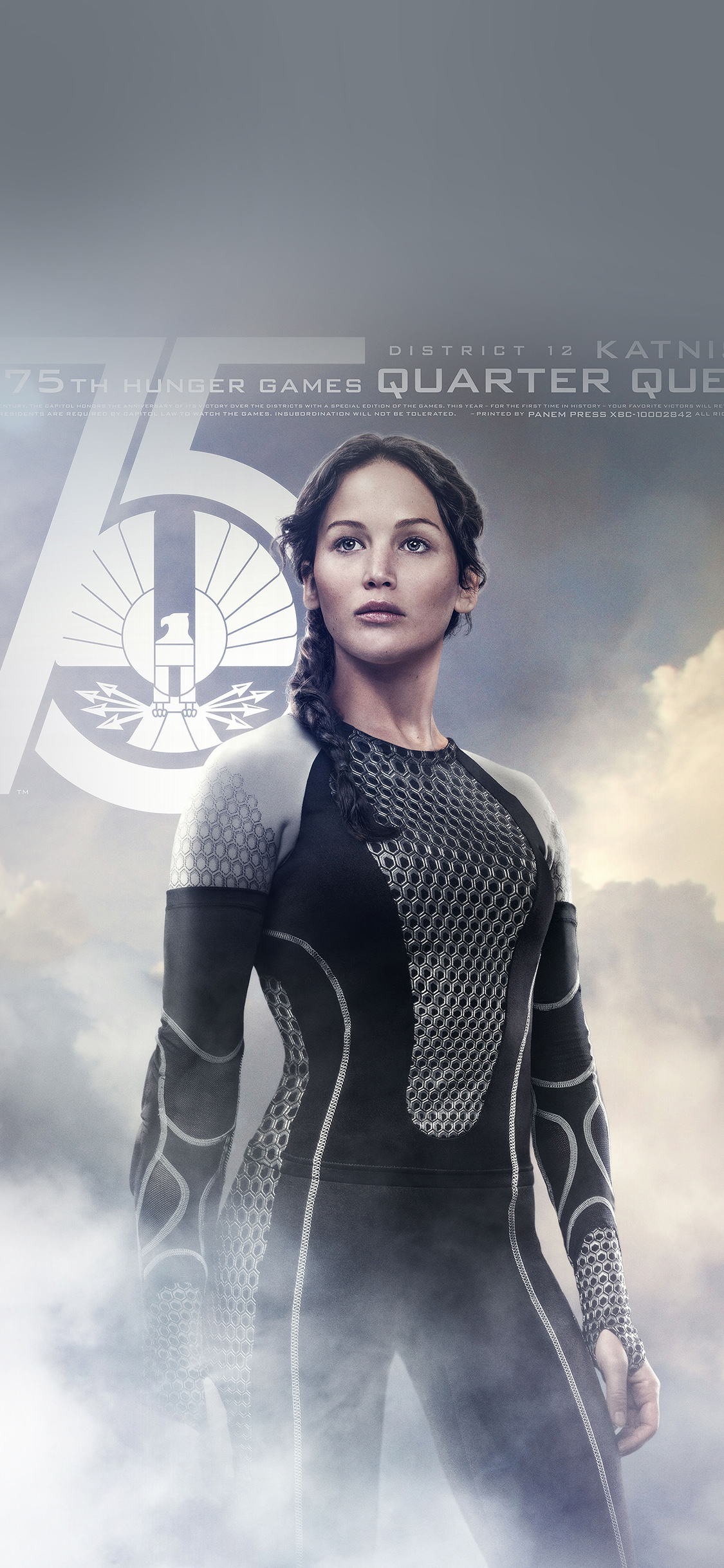 Film Actress Hd Wallpapers He75 Hunger Game Jennifer Lawrence Sexy Poster Papers Co