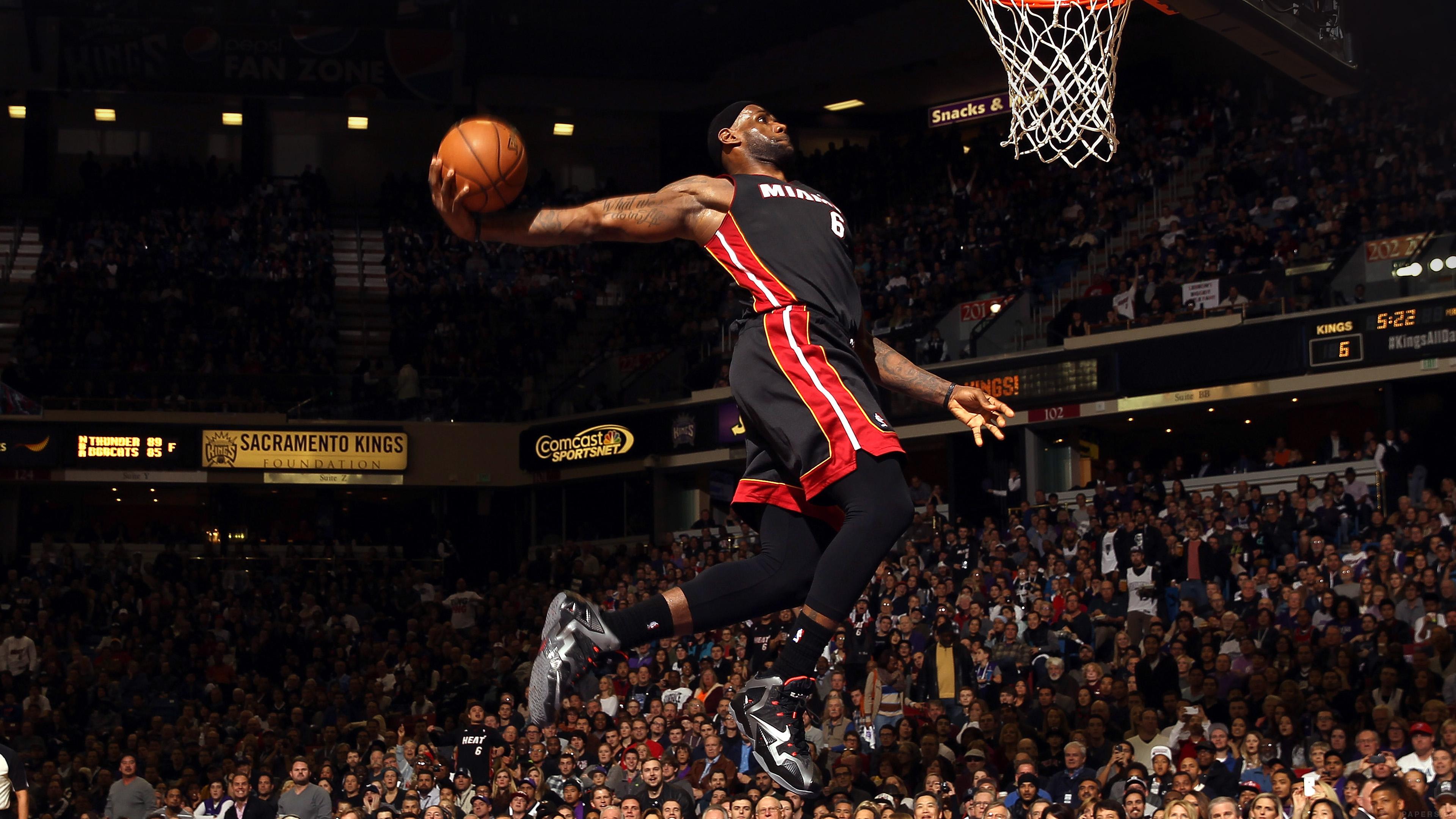 Free Fall Desktop Wallpaper For Mac He99 Lebron James Dunk Nba Sports Art Basketball Papers Co