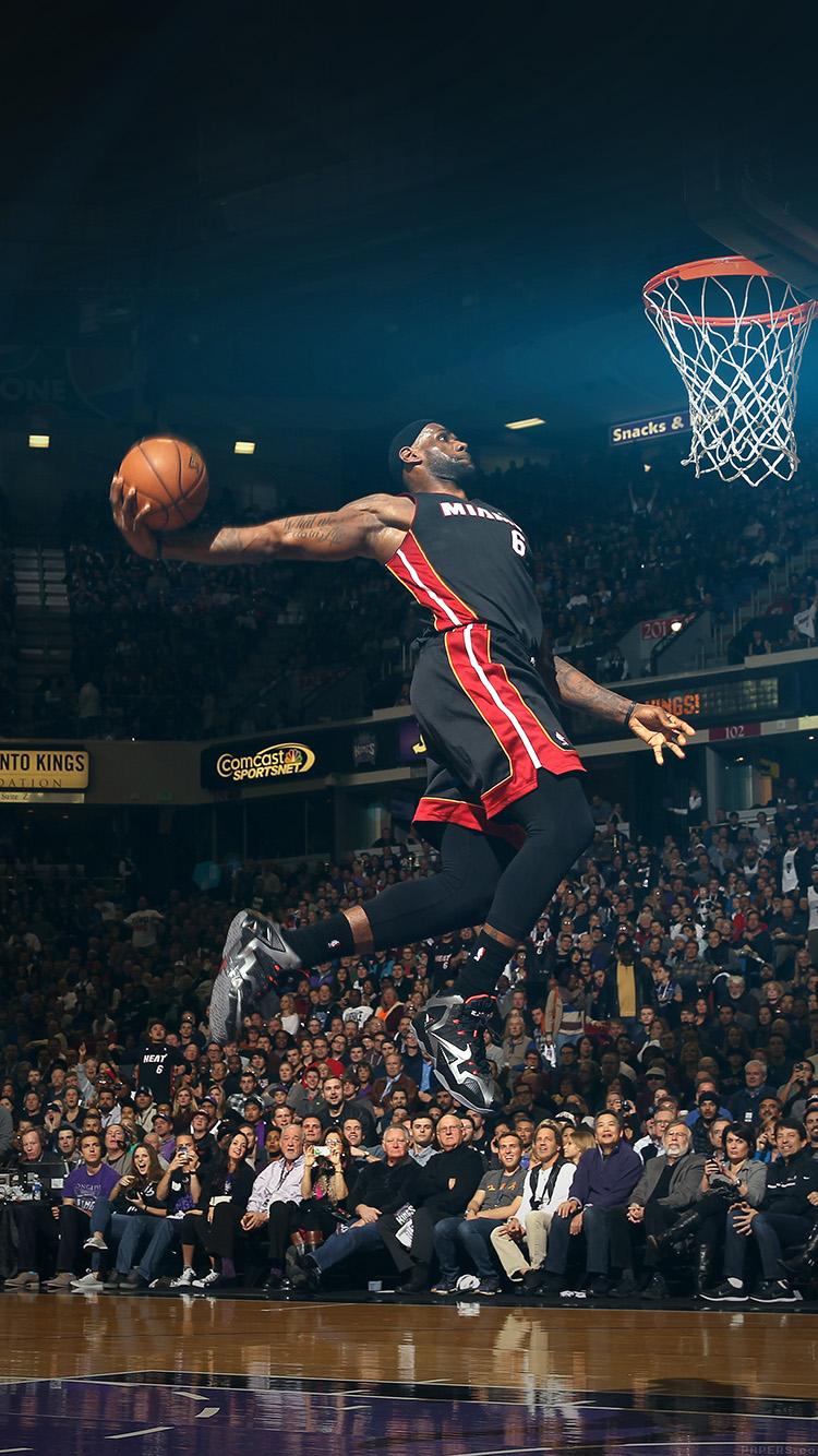 Basketball Iphone Wallpaper Hd Hf00 Lebron James Dunk Nba Sports Art Flare Basketball