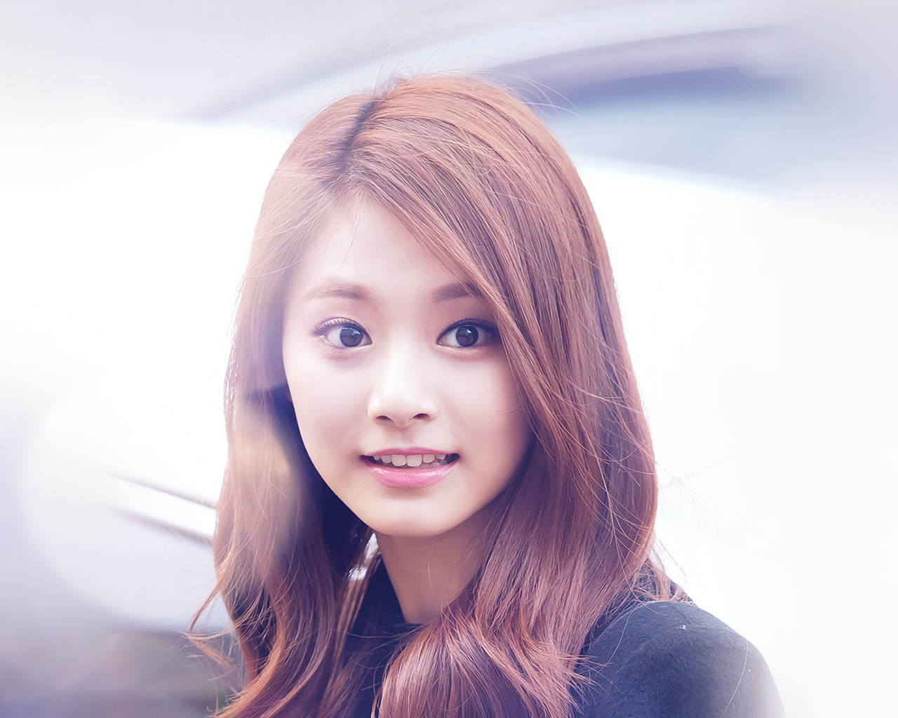 Happy Fall Wallpaper Iphone Hh33 Tzuyu Twice Smile Cute Kpop Jyp Flare Wallpaper