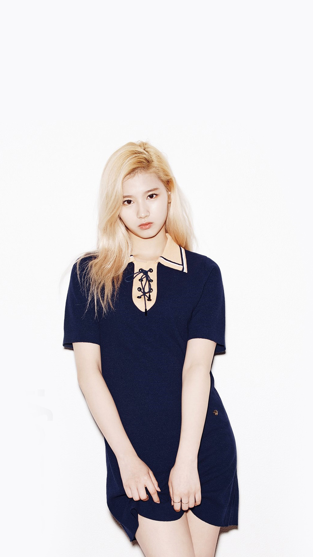 Mlb Iphone Wallpaper Hj37 Kpop Twice Sana Girl Cute White Wallpaper