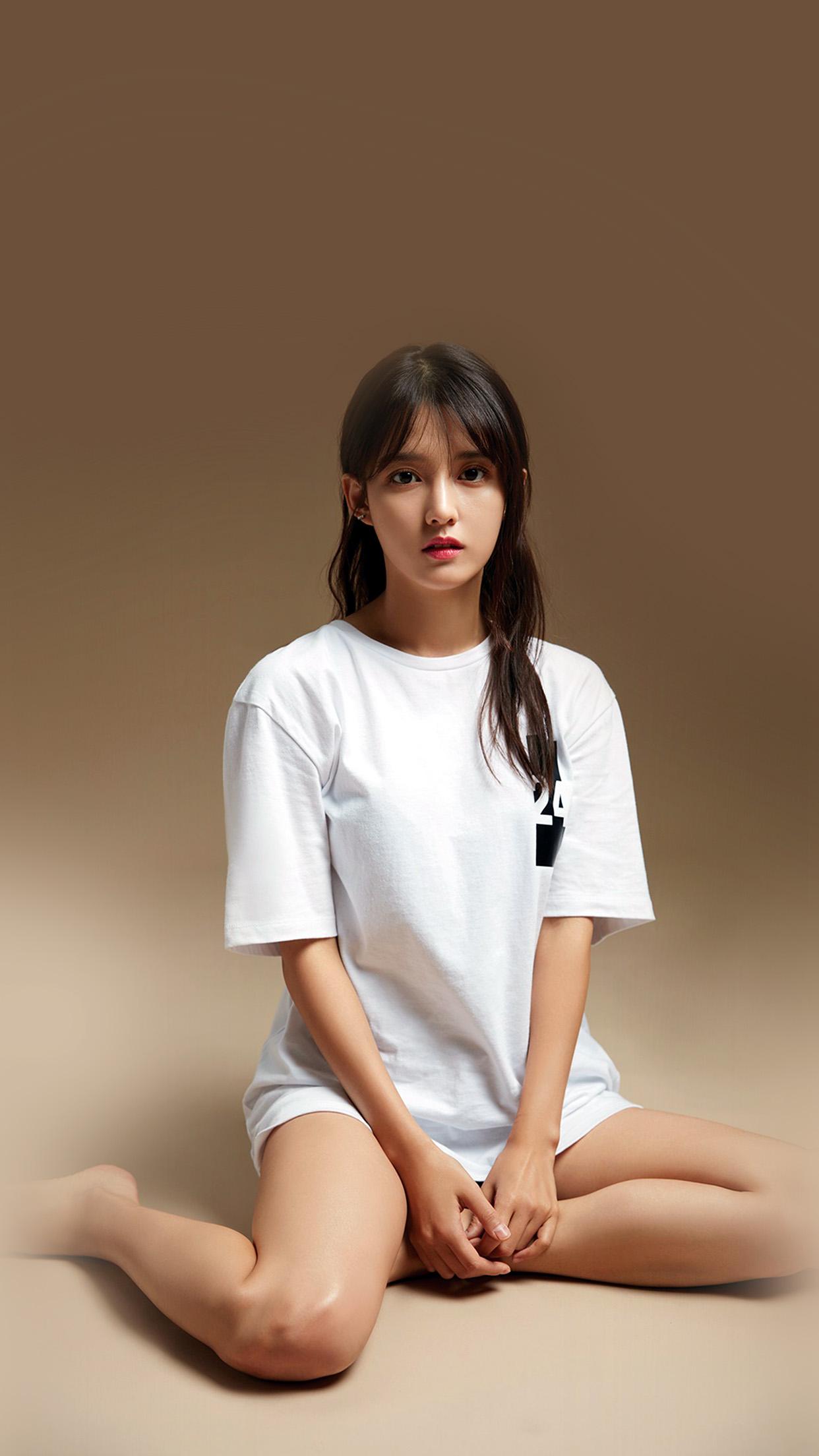 Dark Anime Girl Phone Wallpaper I Love Papers Hk16 Nam Bora Kpop Girl White Brown