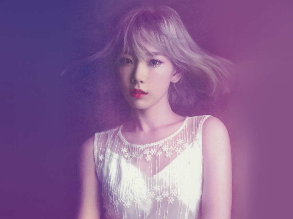 Fall Car Wallpaper Hk82 Taeyeon Snsd Kpop Girl Purple Pink Wallpaper