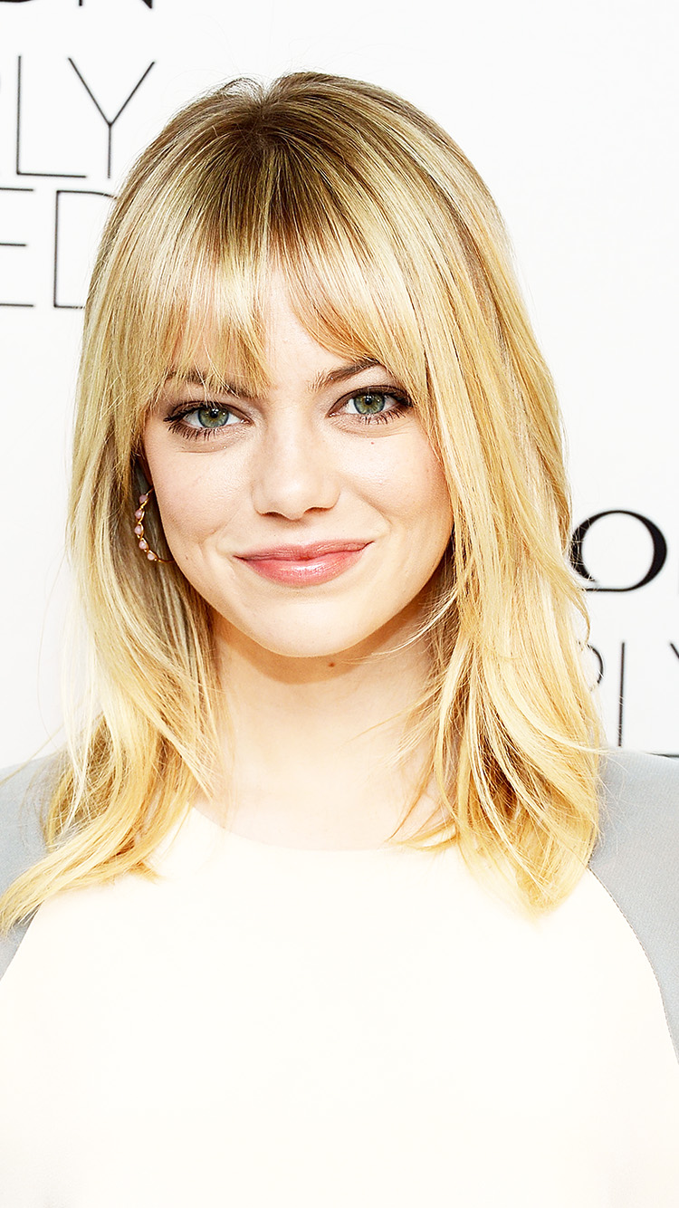 Android Phone Car Wallpapers Hl44 Emma Stone White Girl Film Celebrity Wallpaper